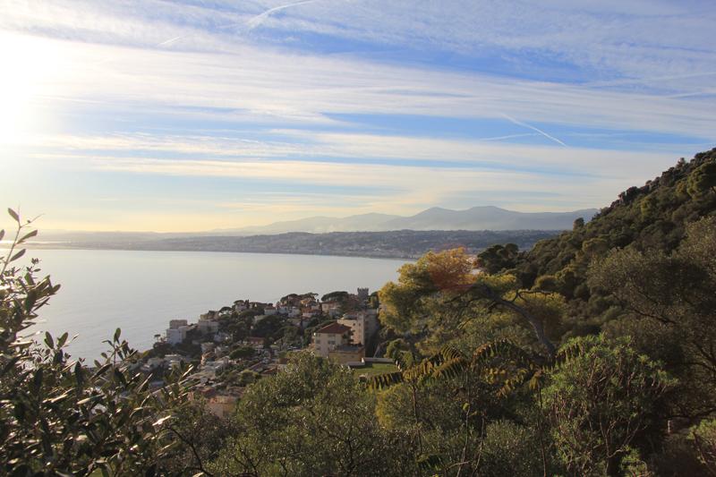 Original billedet med udsigt over Nice